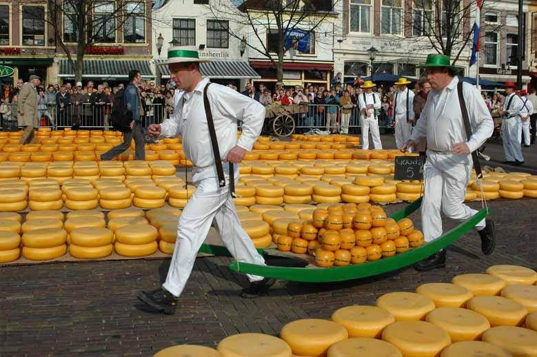 Käseträger in Alkmaar