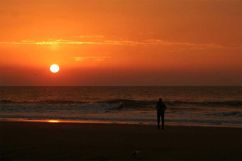 Sonnenuntergang am Strand von Den Haag