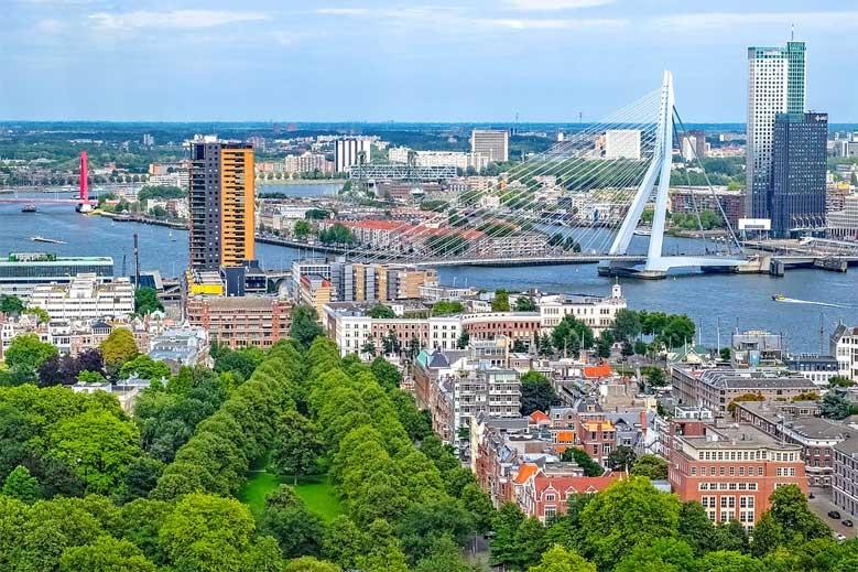 Blick über Rotterdam