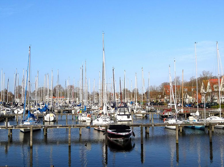 Yachthafen in Medemblik, Nordholland