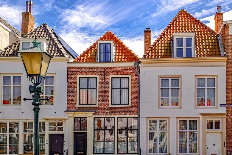 Typische niederländische Häuser in Middelburg