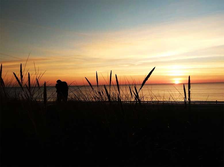 Sonnenuntergang in Nordholland