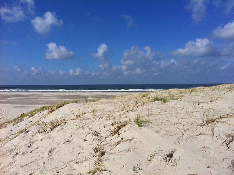 Strand auf der Insel Vlieland, Niederlande