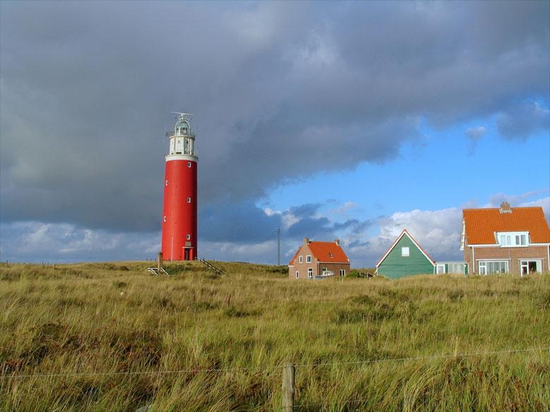 Leuchtturm auf der Insel Texel, Niederlande