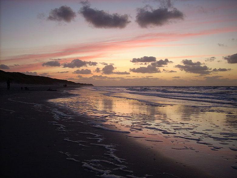 Urlaub am Strand von Vlieland, Niederlande